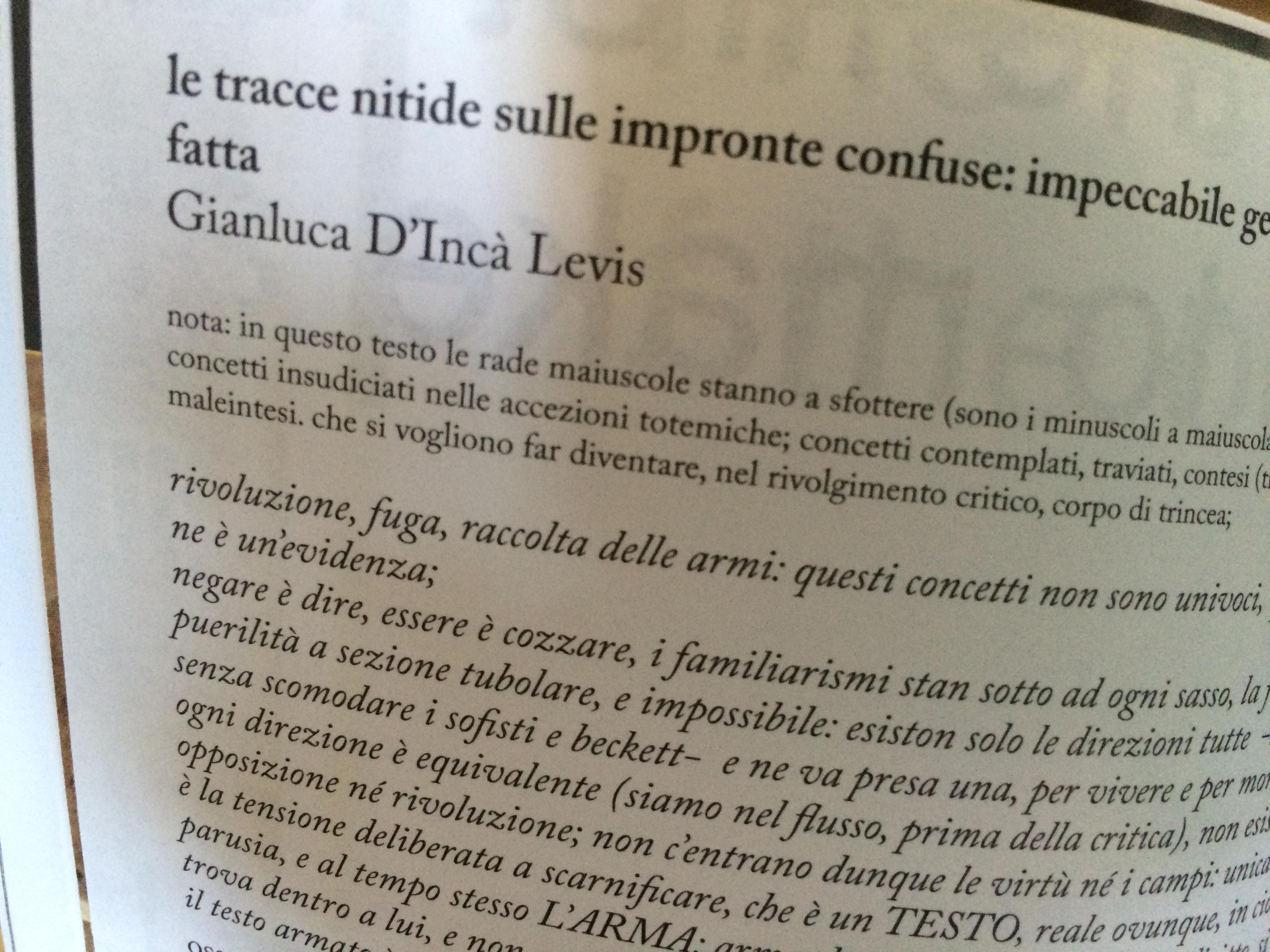Gianluca D'Incà Levis - le tracce nitide sulle impronte confuse: impeccabile geometria della fatta