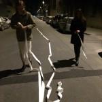 La linea è il riferimento che si sposta...preparing conferenza passeggiando
