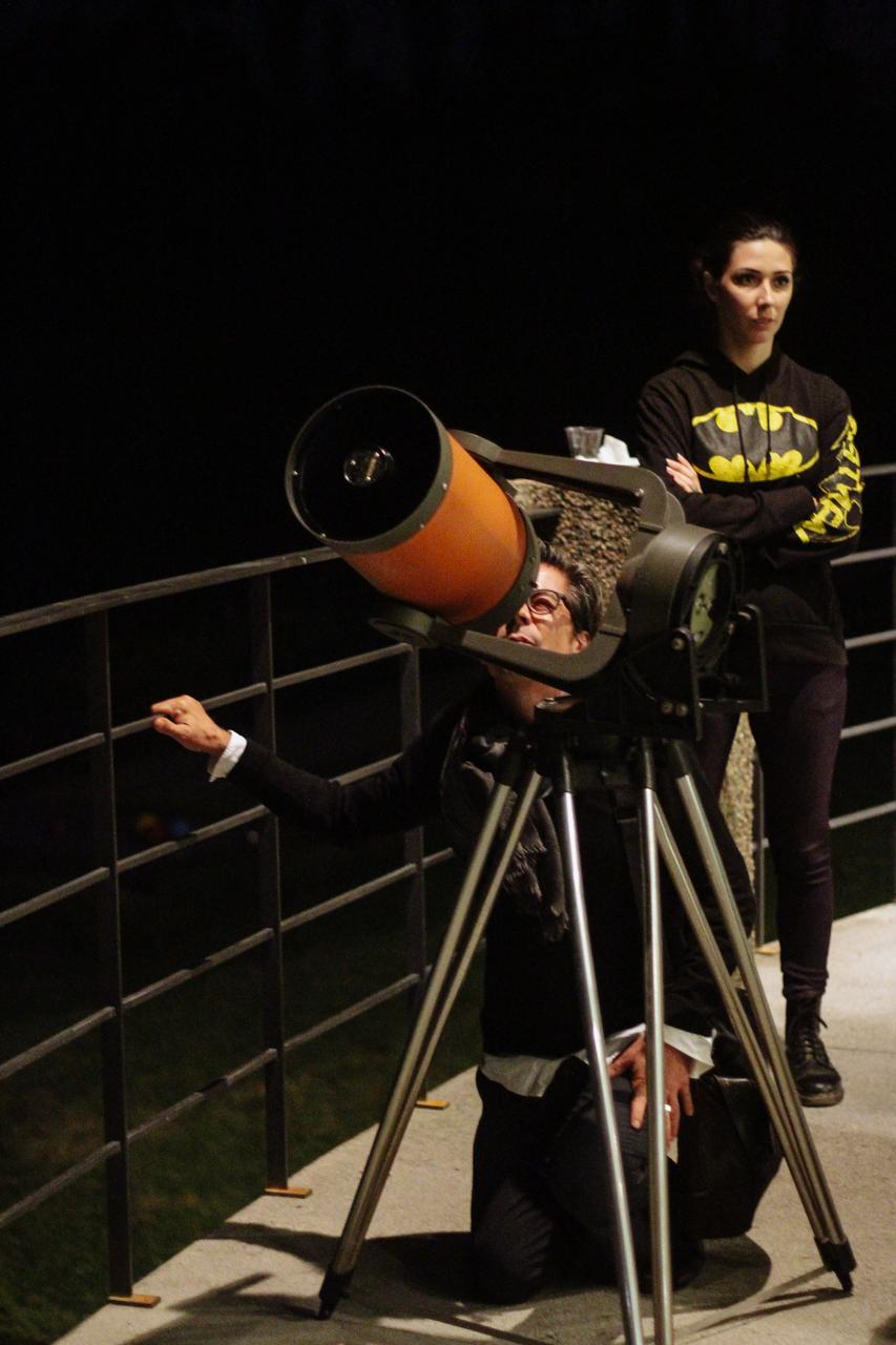 Al telescopio con Elio Antonello (astrofisico, INAF – Osservatorio di Brera) Fondazione Rossini, Briosco