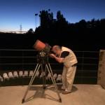 Al telescopio con Elio Antonello (astrofisico, INAF – Osservatorio di Brera) alla Fondazione Rossini, Briosco