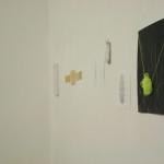 Cose Cosmiche #3. Da sinistra: In-Untitled 2012 / Carlo Dell'Acqua, Bellowed some more: space oddity 01 2012 / Gianluca Codeghini,  Dimasegni #1 - ( >> < < )  ( § )  (  )  (  ) 2012 / Giorgio Partesana,  synapse #11 - synapse #7 2012 / Esther Mathis, Concetto Spaziale 2010 / Lorenzo Tamai, Disegni 2012 / Tonylight (in alto), Senza titolo 2012 / Davide Valenti, 25 Senza titolo 2012 / Yari Miele