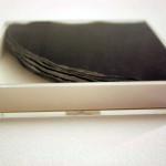 private pattering: 10+1 relax 2012 / Gianluca Codeghini (Pennarello bianco su tovagliolo nero circolare e scatola in plexiglass)