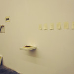 Da sinistra: Disegno 2012 / Lucia Barbagallo, Temporale 2012 / Alia Scalvini, Senza titolo #1 2012 / Marco Pagliardi, TesORO 2012 / Emilio Corti(a terra), Untitled 2012 / Rudina Hoxhaj