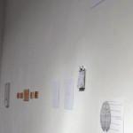 (da sin.) Bellowed some more: space oddity 01 2012 / Gianluca Codeghini,  Dimasegni #1 - ( >> < < )  ( § )  (  )  (  ) 2012 / Giorgio Partesana,  synapse #11 - synapse #7 2012 / Esther Mathis, Concetto Spaziale 2010 / Lorenzo Tamai, Disegni 2012 / Tonylight (in alto), Senza titolo 2012 / Davide Valenti